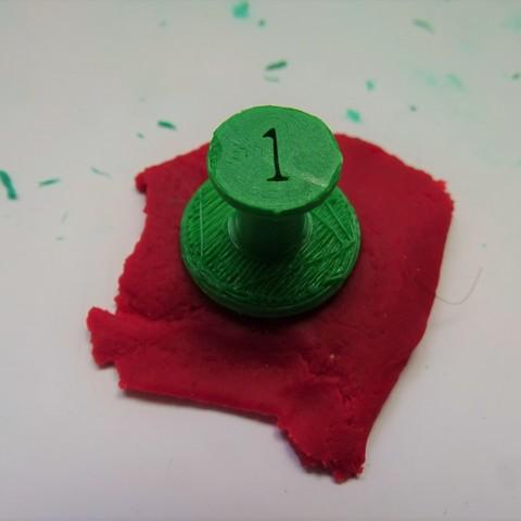 Tamons chiffres 2 _.jpg Download free STL file Stamps stamps number _ Number plasticine stamps • 3D printer model, LaWouattebete