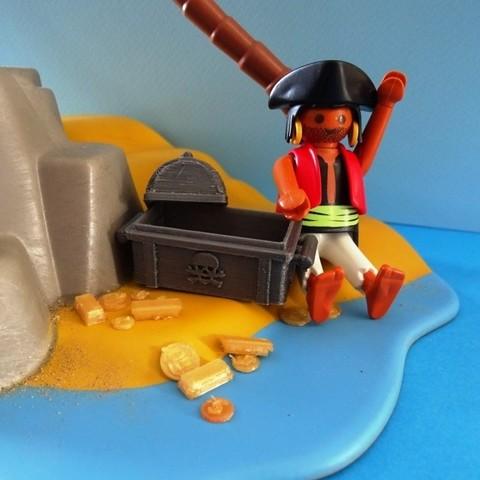 DSC06529.JPG Télécharger fichier STL gratuit Coffre Pirates Playmobil • Design imprimable en 3D, LaWouattebete
