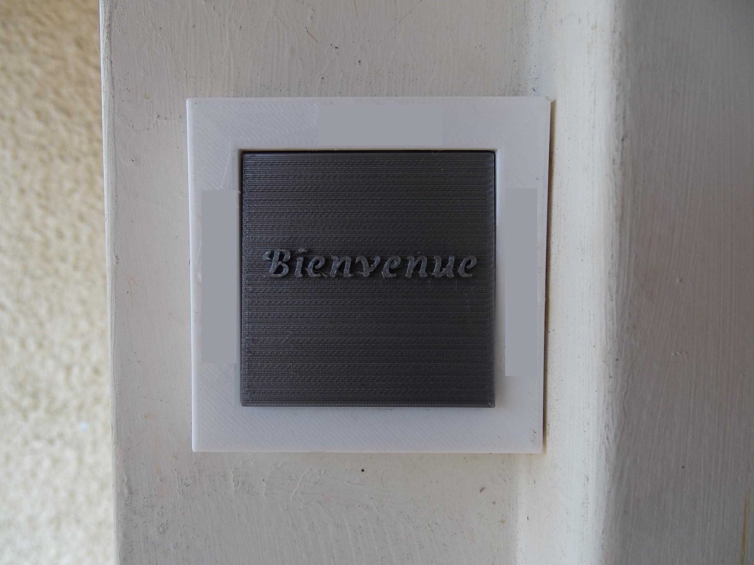 Sonnette Bienvenue.jpg Télécharger fichier STL gratuit Sonnette Bienvenue • Modèle pour imprimante 3D, LaWouattebete