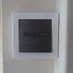 Sonnette Bienvenue.jpg Download free STL file Sonnette Welcome • 3D printer object, LaWouattebete