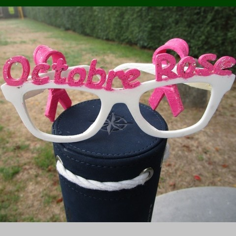 Free 3D printer model Pink October Glasses, LaWouattebete