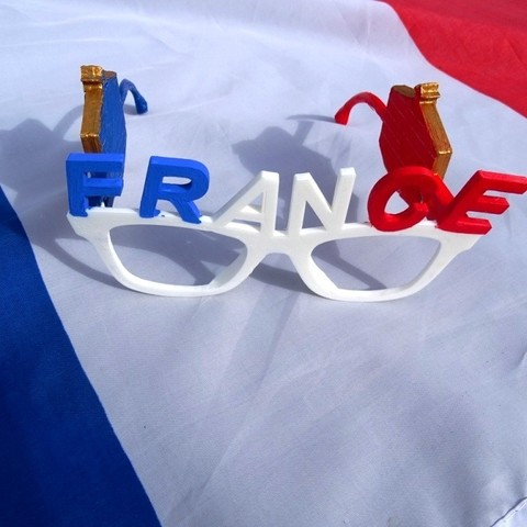 Free 3D printer designs French Team Glasses, LaWouattebete