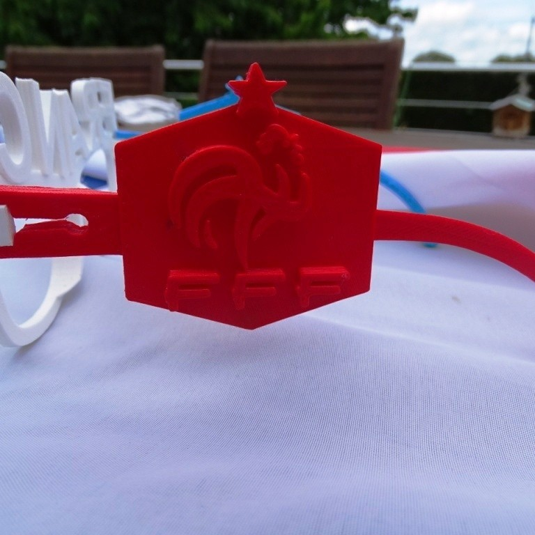 Logo Rouge.JPG Download free STL file French Team Glasses • 3D print object, LaWouattebete