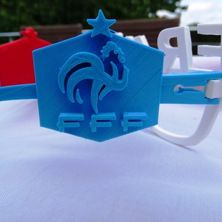 Logo Bleu.JPG Download free STL file French Team Glasses • 3D print object, LaWouattebete