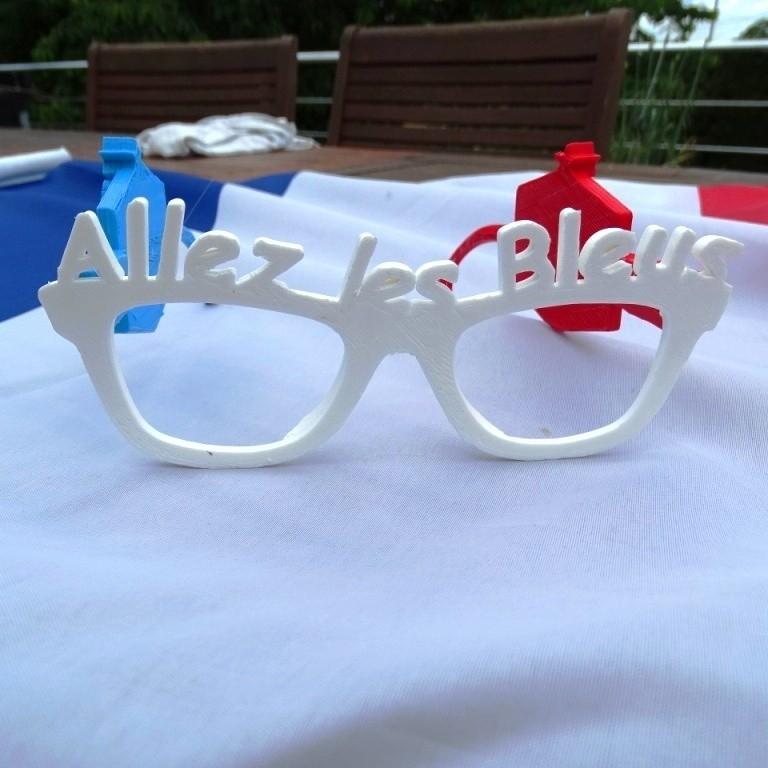 Allez Les Bleus.JPG Download free STL file French Team Glasses • 3D print object, LaWouattebete