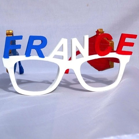 Monture V2.JPG Download free STL file French Team Glasses • 3D print object, LaWouattebete