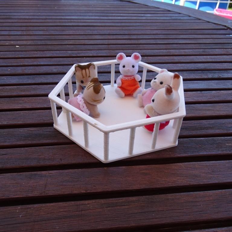 DSC08791.JPG Télécharger fichier STL gratuit Parc pour enfants Sylvanian • Modèle pour impression 3D, LaWouattebete