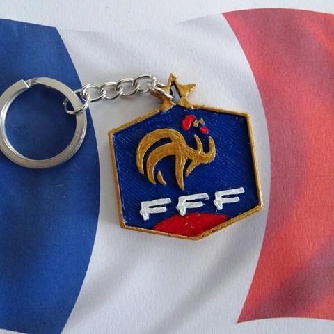 Fichier 3D gratuit Porte clés FFF, LaWouattebete