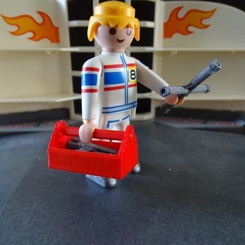 Download free 3D printer files Playmobil Tool Box, LaWouattebete
