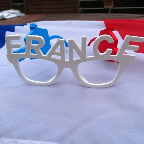 FRANCE.JPG Download free STL file French Team Glasses • 3D print object, LaWouattebete