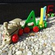 Download free 3D printing designs Alphabet Train, LaWouattebete