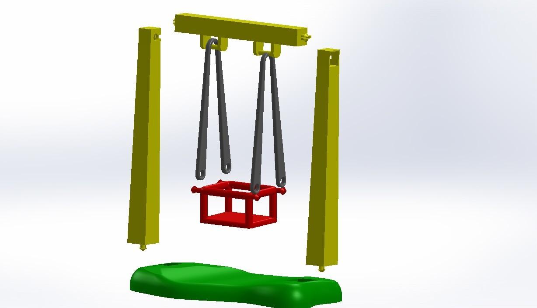 Assemblage.JPG Télécharger fichier STL gratuit Balançoire et Toboggan Playmobil • Plan imprimable en 3D, LaWouattebete