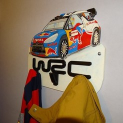 Download free STL file Rallye WRC coat rack • Design to 3D print, LaWouattebete