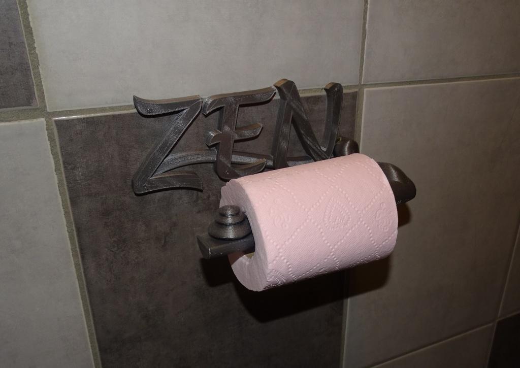 Dévidoir PT ZEN.JPG Download free STL file Dévidoir papier toilettes_Toilet paper dispenser • 3D printing template, LaWouattebete