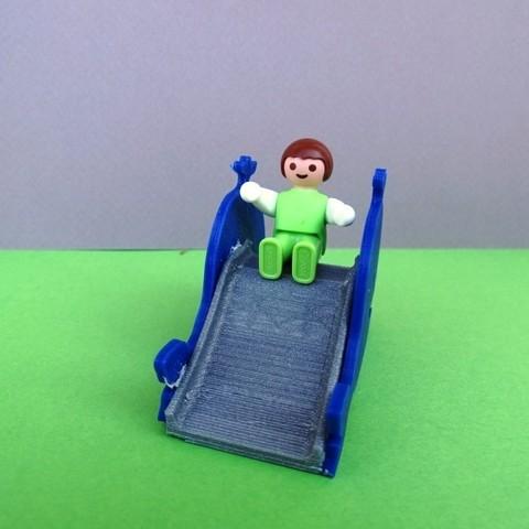 DSC06580.JPG Télécharger fichier STL gratuit Balançoire et Toboggan Playmobil • Plan imprimable en 3D, LaWouattebete