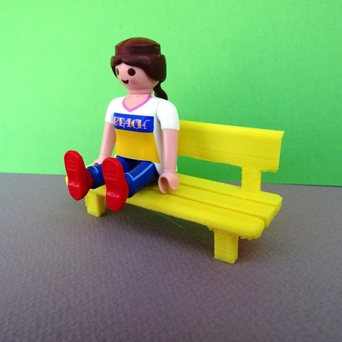 DSC06584.JPG Download free STL file Playmobil Bench and Camping Table • 3D printable model, LaWouattebete