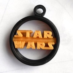 Download free 3D model Star Wars Keychain Star Wars Keychain, LaWouattebete