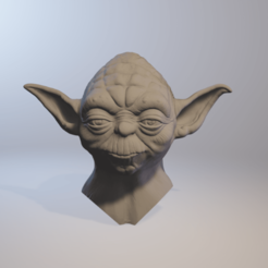 STL file Yoda 3d model HD, PMF