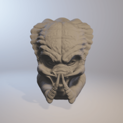 Objet 3D Predator head 3D model lifesize cosplay collection, PMF