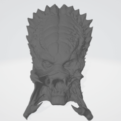 w1.png Download STL file PREDATOR WOLF HEAD 3D MODEL LIFESIZE COSPLAY COLLECTION • 3D printing object, PMF