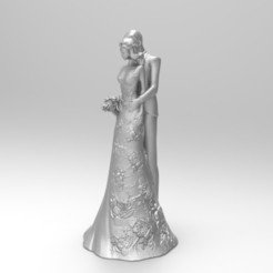 3D printing model wedding cake topper 3, martinaandrea