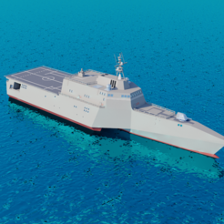 STL file Uss independence lcs 2, martinaandrea
