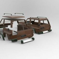 nissan.100.jpg Download STL file Nissan ranger  body  • 3D printing object, martinaandrea