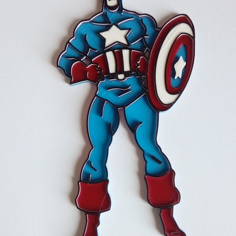 download stl file captain america cake topper 3d print model cults captain america cake topper