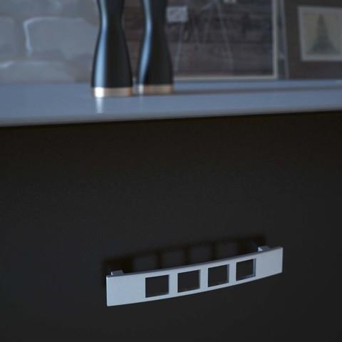 lilia.jpg Download STL file furniture handle 128 LILIA • 3D print template, helloloto