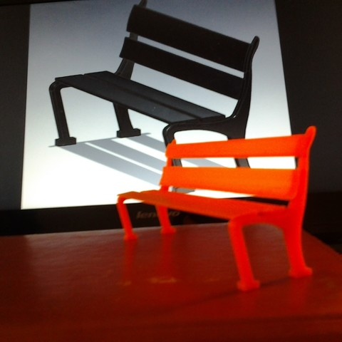 Download STL file  Bench for a seat, Amador