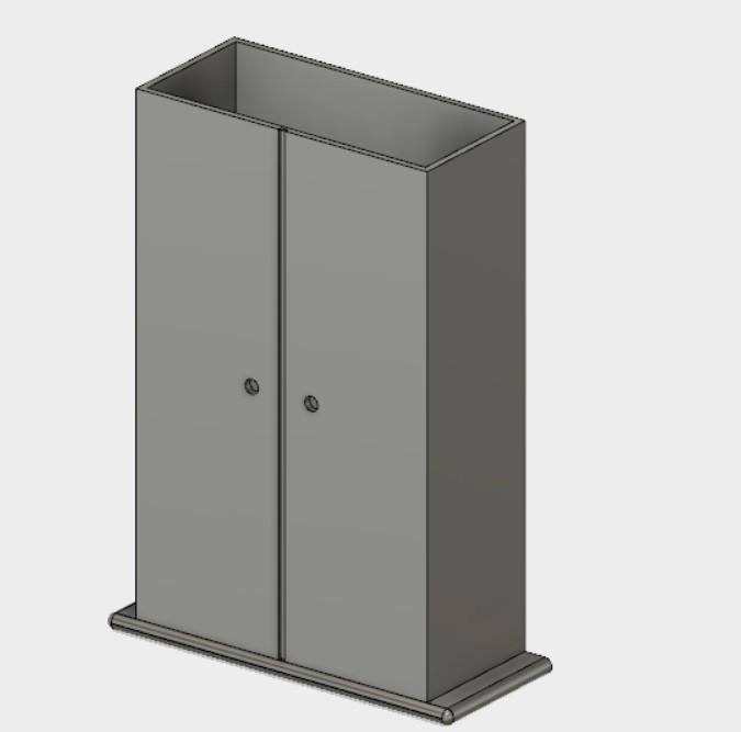 skrin.jpg Download STL file  cabinet • 3D printable object, Amador