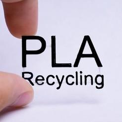 Free 3D print files PLA Recycling Sign, Elliott