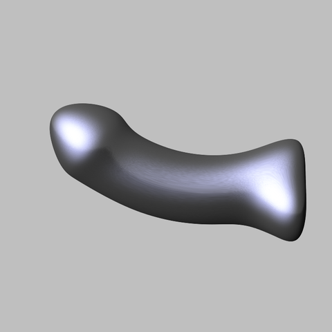 Download STL file Sleek Curved Dildo • 3D printable template, RileyAndEllie