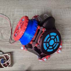 Télécharger STL gratuit Filtre actif (avec ventilateur de 40 mm) pour le masque L, _MSA_
