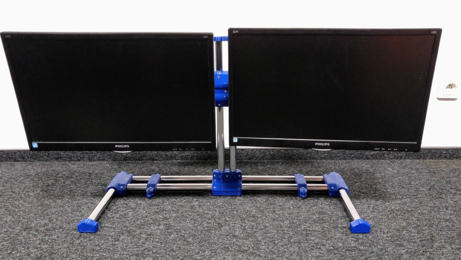 Capture d'écran 2018-01-17 à 15.31.22.png Download free STL file Modular dual monitor stand • 3D printer object, _MSA_