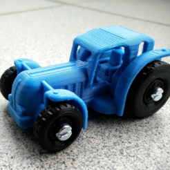 Free 3D printer designs Tractor, _MSA_