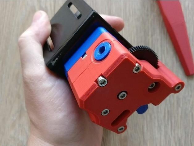 12c24906f59e0908ea12fb954867796e_preview_featured.jpg Download free STL file dTitan Geared Extruder • 3D printer template, _MSA_