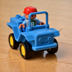 Free 3D printer model Jeep Lego Duplo brick, _MSA_