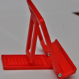 Download free 3D printer designs Foldable tilting tablet/phone stand, _MSA_