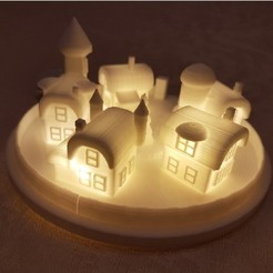 Download free STL file Christmas elf town lamp, lolo_aguirre