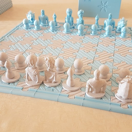 Download free 3D printer files Frozen chess, lolo_aguirre