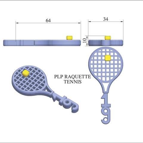 plp-tennis-raquette-balle.jpg Télécharger fichier STL gratuit PLP TENNIS ROGER • Objet pour impression 3D, PLP