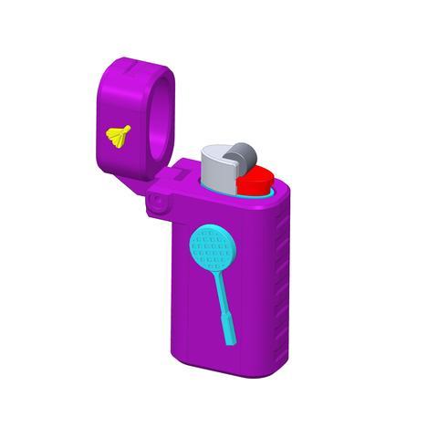 plp-briquet-assemblage-badmint-.jpg Download free STL file PLP LIGHTERS HOLDER • 3D printer object, PLP
