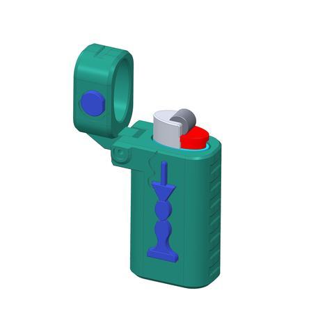 plp-briquet-assemblage-bilbo-.jpg Download free STL file PLP LIGHTERS HOLDER • 3D printer object, PLP