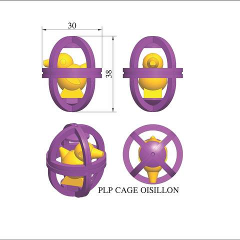 plp-cage-oisillon.jpg Download STL file PLP OISILLON IN A CAGE • Design to 3D print, PLP