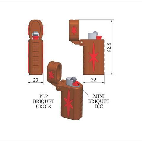 plp-briquet-assemblage-croix.jpg Download free STL file PLP LIGHTERS HOLDER • 3D printer object, PLP