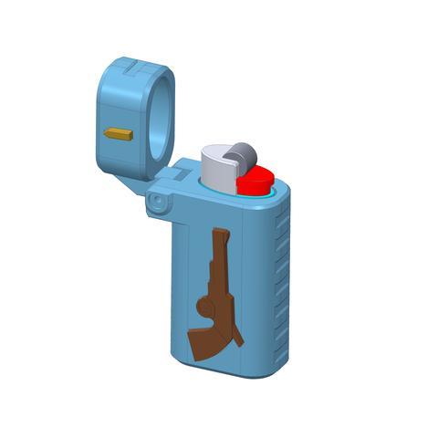 plp-briquet-assemblage-arme-.jpg Download free STL file PLP LIGHTERS HOLDER • 3D printer object, PLP
