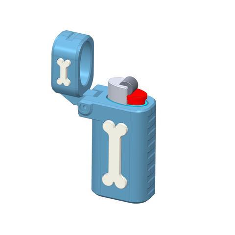 plp-briquet-assemblage-os-.jpg Download free STL file PLP LIGHTERS HOLDER • 3D printer object, PLP