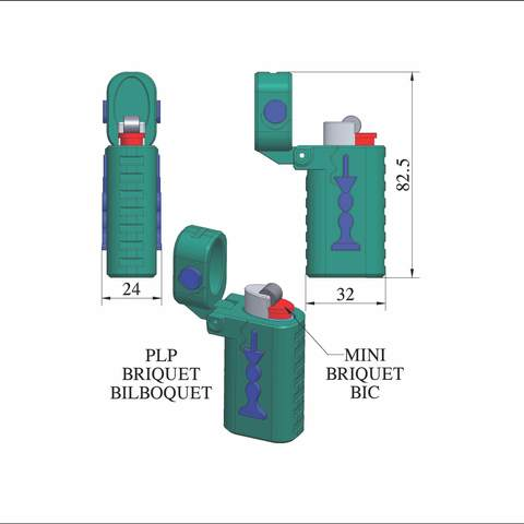 plp-briquet-assemblage-bilbo.jpg Download free STL file PLP LIGHTERS HOLDER • 3D printer object, PLP