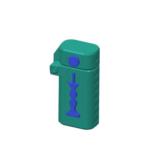 plp-briquet-assemblage-bilbo--.jpg Download free STL file PLP LIGHTERS HOLDER • 3D printer object, PLP